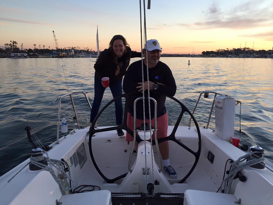 Sailboat Racing in Marina Del Rey, California